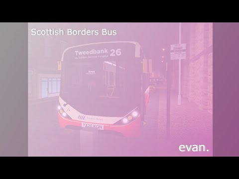 Working as a bus on Scottish Borders.  