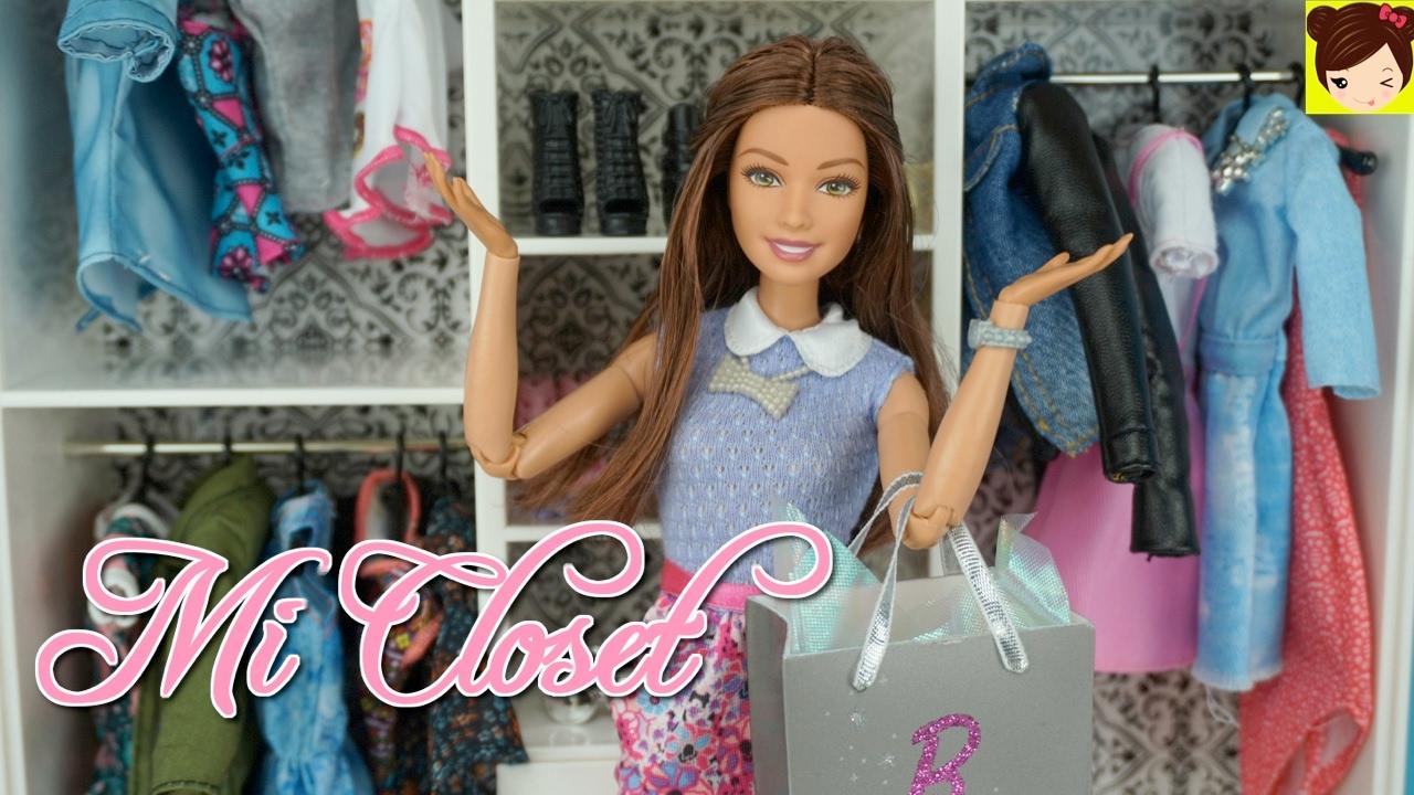 Tour Del Closet Real De Barbie Con Nuevos Accesorios Ropa