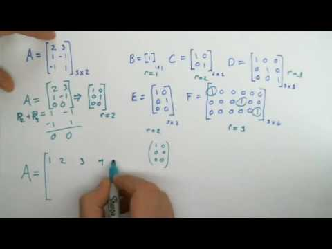 How to find the rank of a matrix - What is the rank of a matrix? - Explanation of Rank