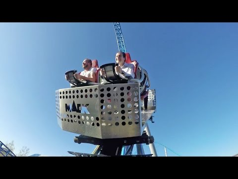 Blue Fire Roller Coaster With SPINNING Car! Mack Rides Test!  Europa Park IAAPA 2015