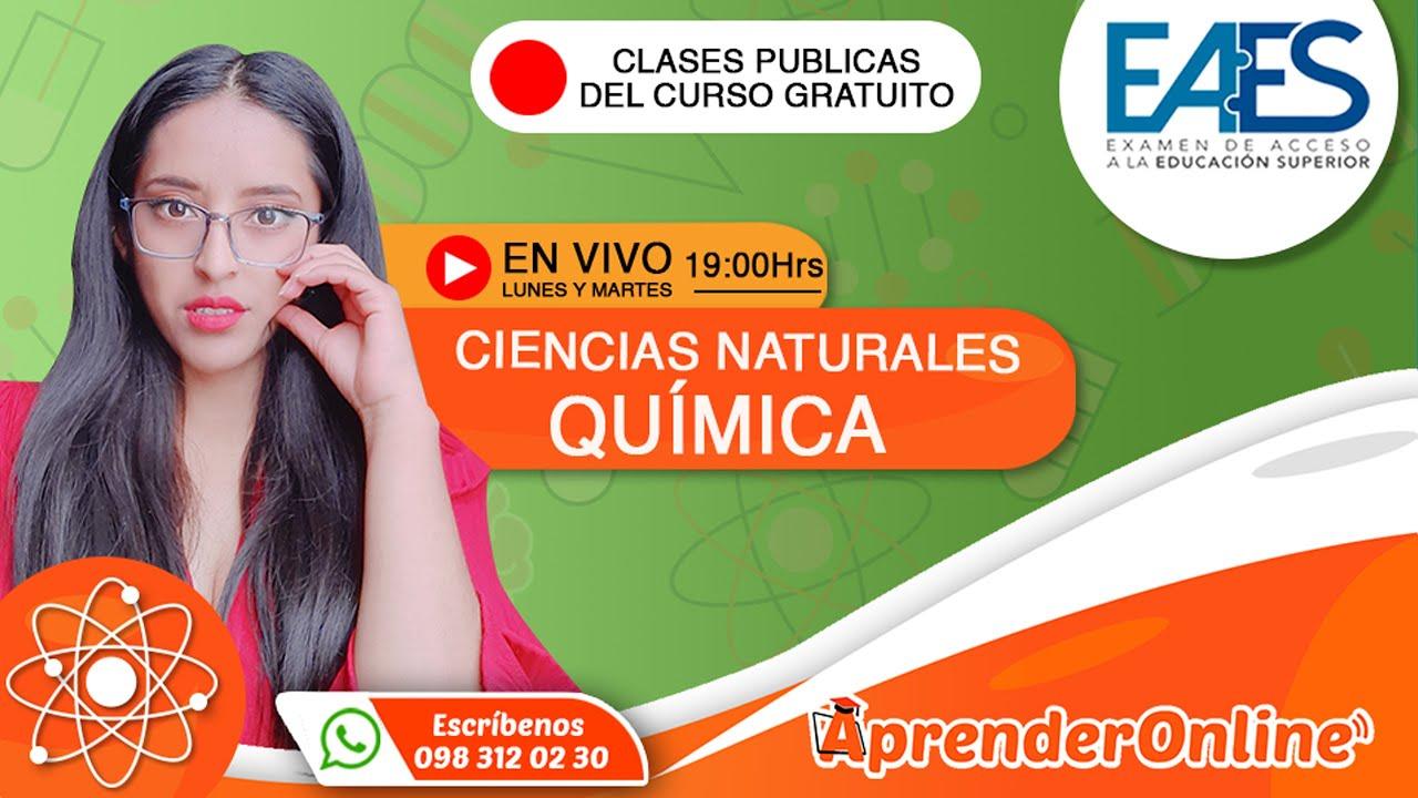 EAES   Clase de QUÍMICA   CURSO GRATUITO  🔴 Live (T2/C11)