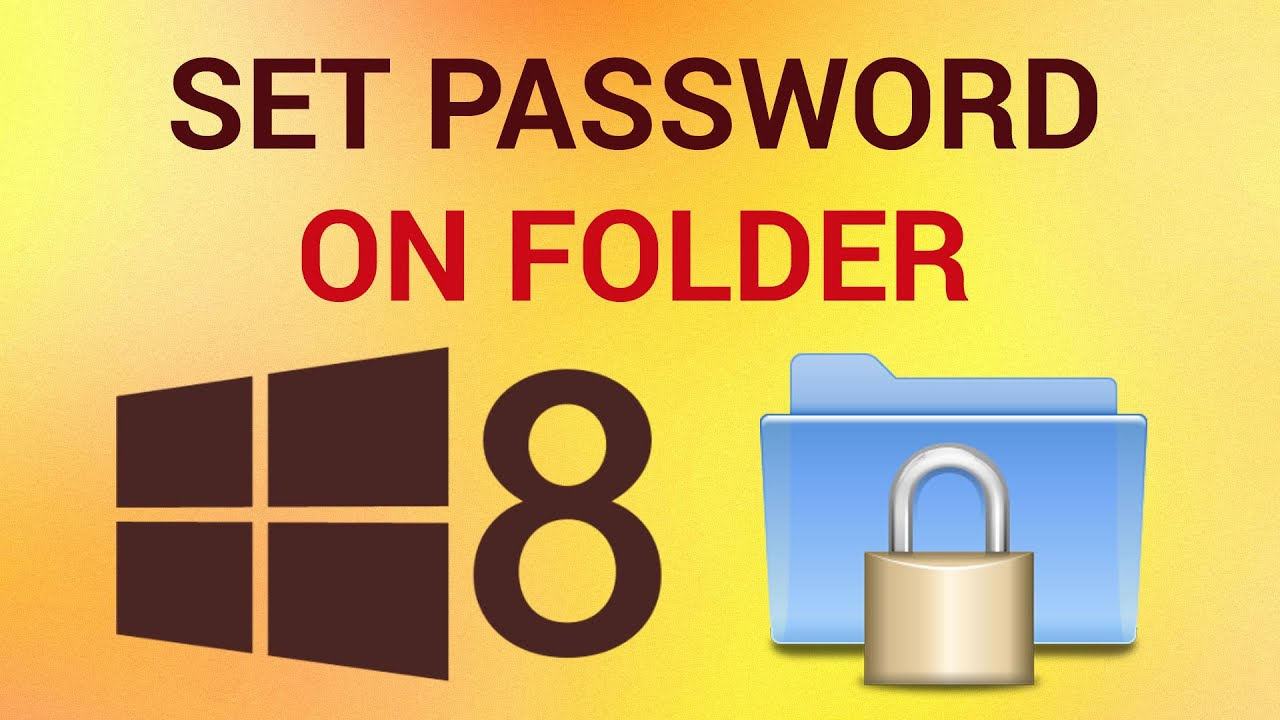 how to put a password on a folder dell laptop