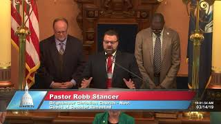 Sen. Runestad welcomes Pastor Stancer to the Michigan Senate