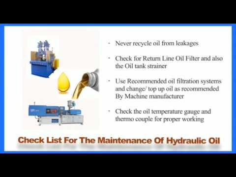 Preventive Measures For the maintenance of Injection Moulding Machine in  Summar
