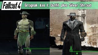 Fallout 4 - Grognak Axe Outfit plus The Silver Shroud Outfit Guide