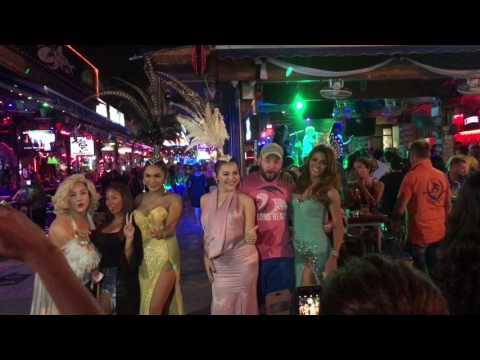 Patong Beach Bangla Road Walking Street, Phuket Thailand, 4K RAW Footage