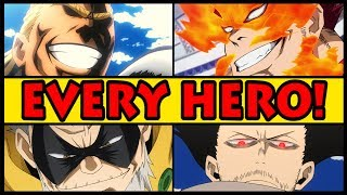 EVERY PRO HERO EXPLAINED! (My Hero Academia / Boku no Hero Academia All Heroes & Their Quirks)