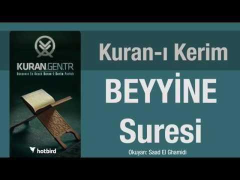 beyyine suresi dinle ezberle türkçe meali oku. kuran.gen.tr