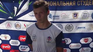 Дмитрий Гребенюков, футболист ДГТУ, после матча ДГТУ - СевГУ (3:0).