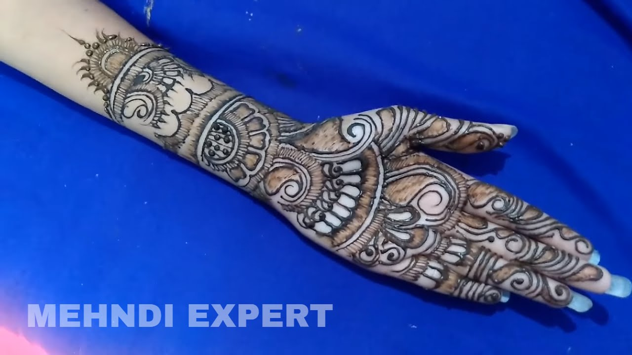 Stylish henna designs for hands new mehndi styles morewallpapers - Mehndi Design 2017 Full Hd New Full Hand Bridal Henna Or Mehndi Design By Manasi