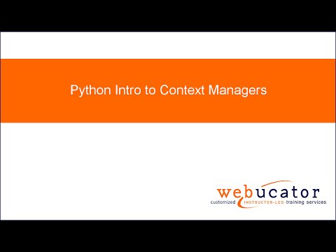 Python Intro to Context Managers
