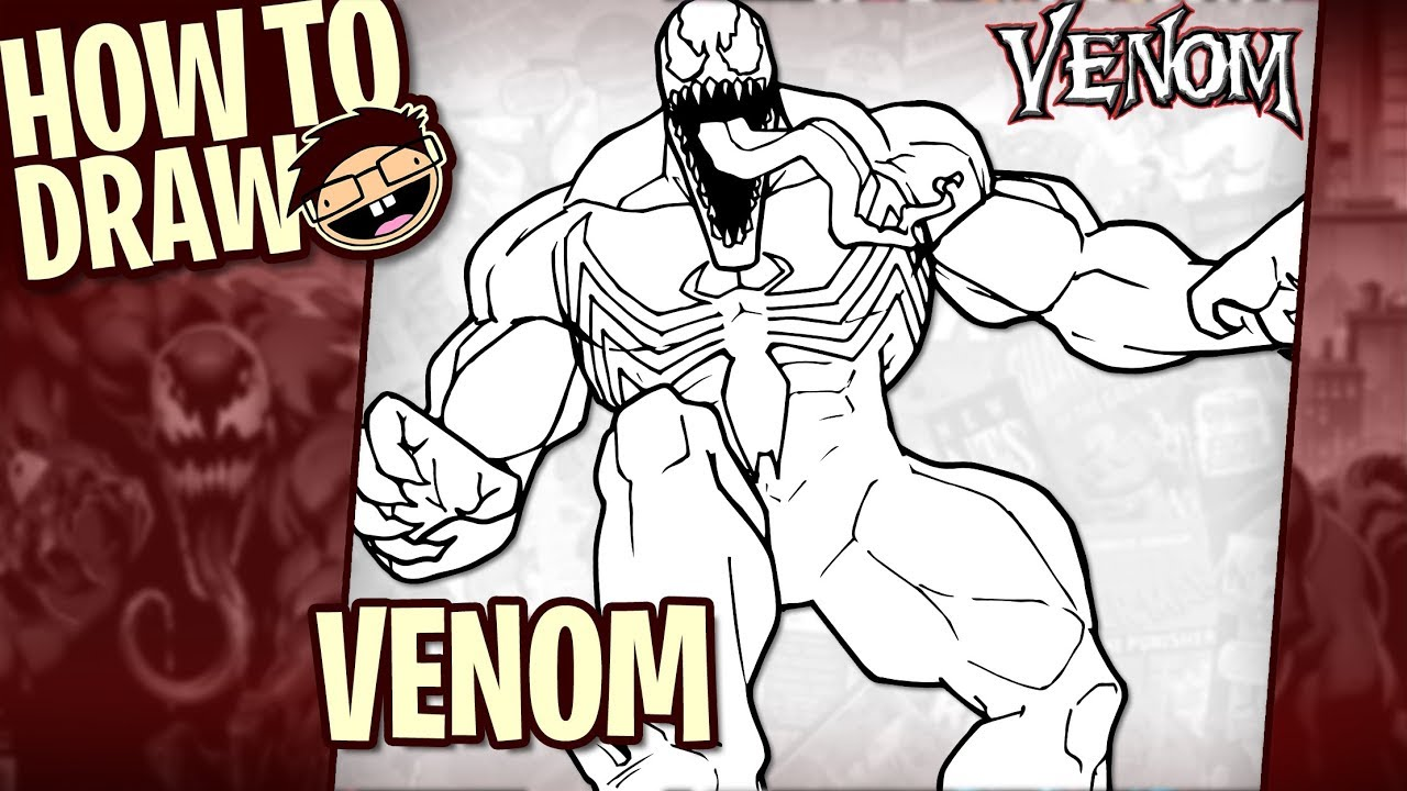How To Draw Venom Classic Comic Version Narrated Easy Step By