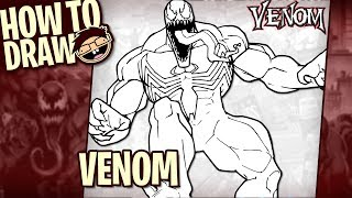 How to Draw VENOM (Classic Comic Version) | Narrated Easy Step-by-Step Tutorial