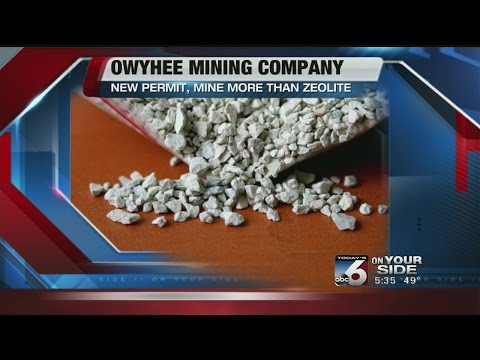 OREGON MINE GETS PERMIT TO MINE MORE THAN ZEOLITE