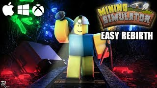 ROBLOX Indonesia easy way to fast rebirth mining simulator