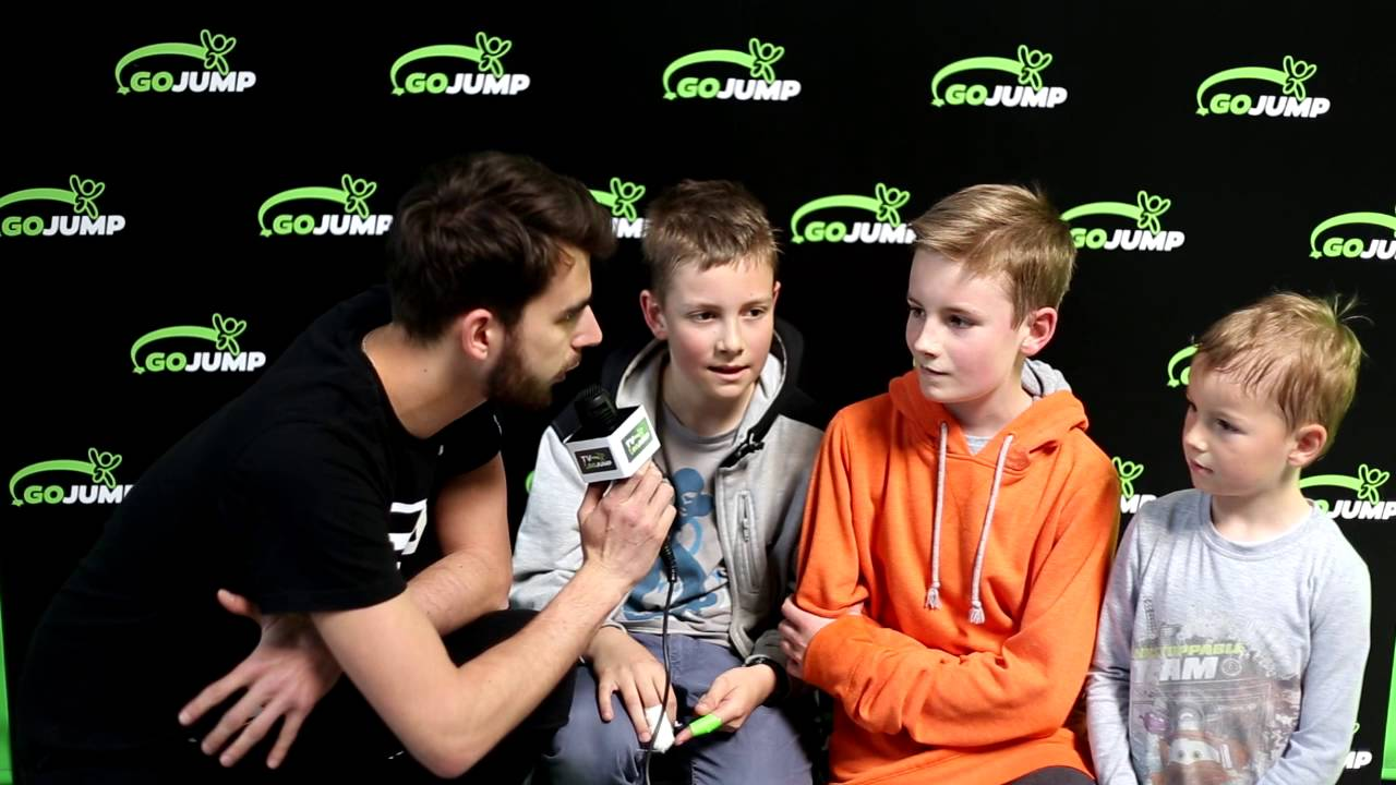 Piotrek, Janek i Jakub na otwarciu #GOjumpWro