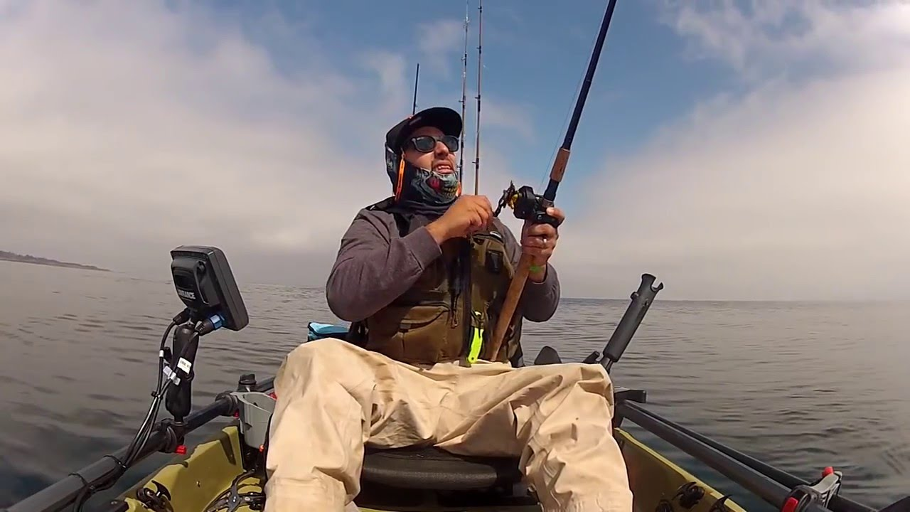 Kayak fishing in monterey bay ca youtube for California out of state fishing license
