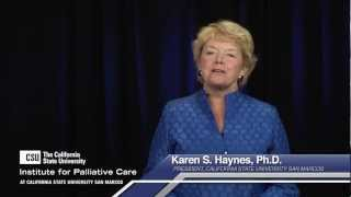 The CSU Institute for Palliative Care at California State University San Marcos