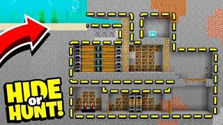 we made SECRET Minecraft under water base! - Hide Or Hunt #1