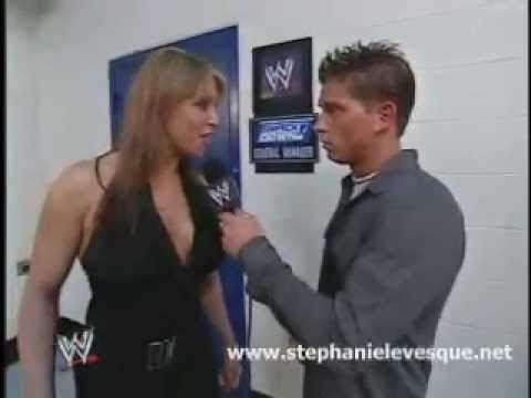 Stephanie McMahon looking like Chyna backstage with Josh Mattews thumbnail
