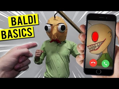 CALLING BALDI'S BASICS ON FACETIME AT 3 AM!! HE ATTACKED US!