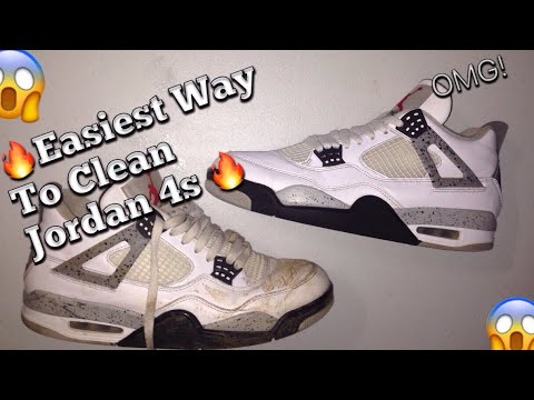 HOW TO CLEAN JORDAN 4 RETROS ( Jordan 4 White Cement Restoration )
