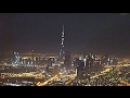 Airbus A-380 Emirates Take-off at Night in Dubai Flight EK302 to Shanghai
