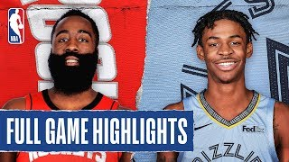 ROCKETS at GRIZZLIES | FULL GAME HIGHLIGHTS | January 14, 2020