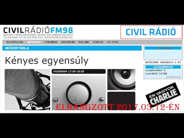 Kényes Egyensúly 2017.03.12. Bartus László - Iványi Margit - Civil Rádió