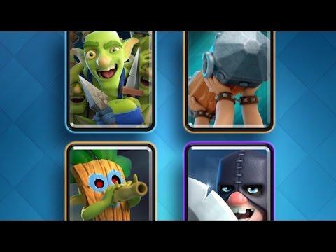 Clash Royale - 4 NEW CARDS UDPATE! Dart Goblin, Executioner, Battle Ram & Goblin Gang!