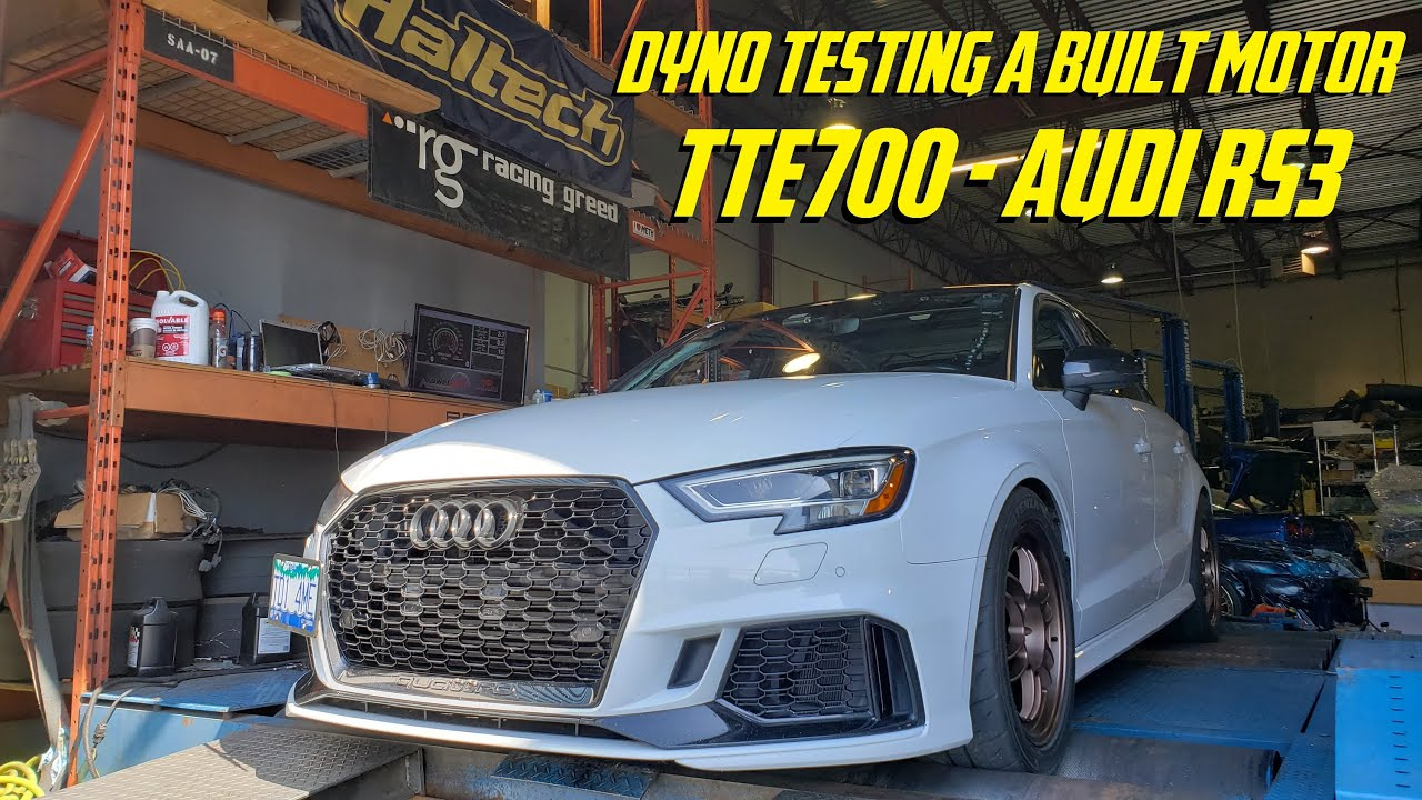 DYNO TESTING - TTE700 - Unitronic Tuned - Built Motor - Audi RS3
