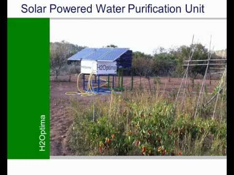 H2Optima Solar Powered Water Purification Unit