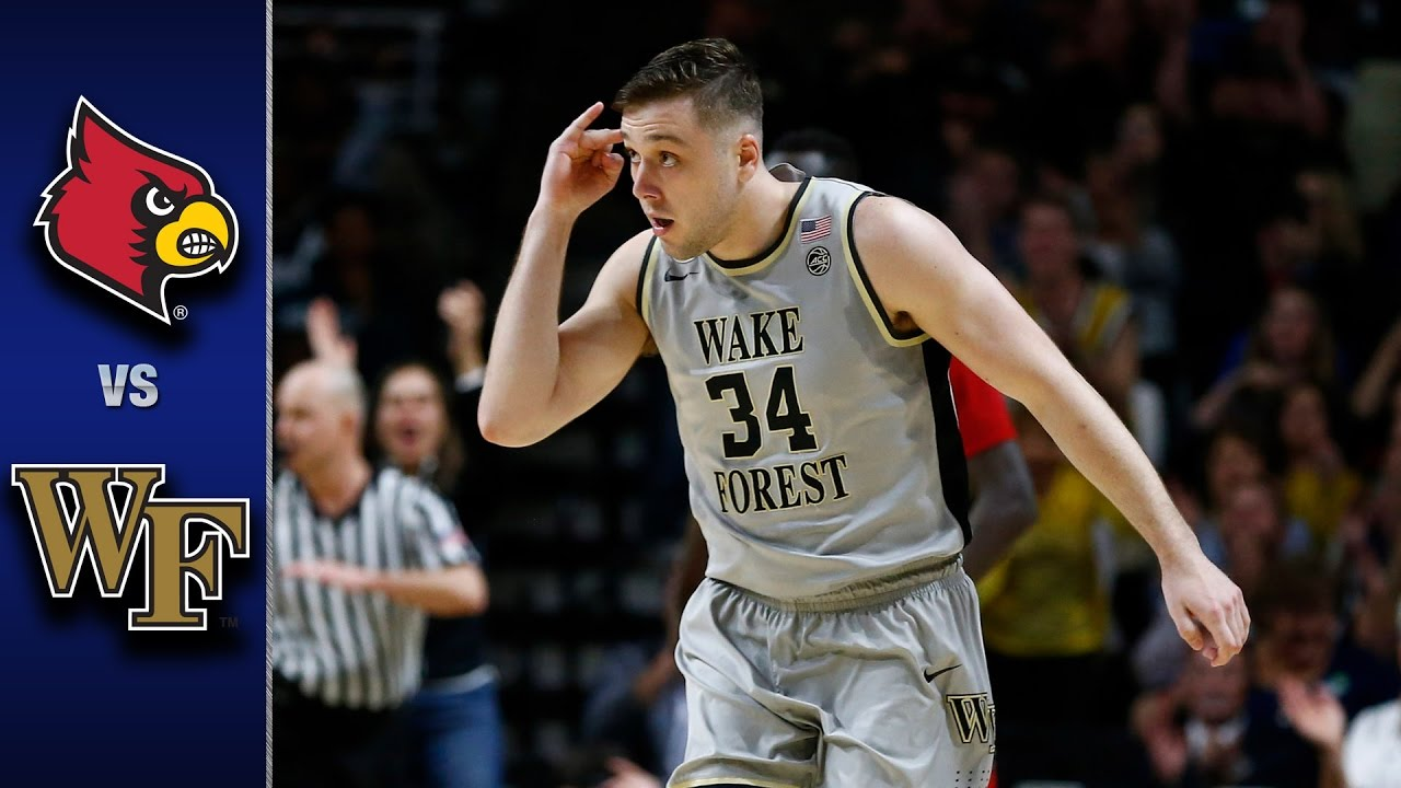 Image result for wake forest university louisville basketball