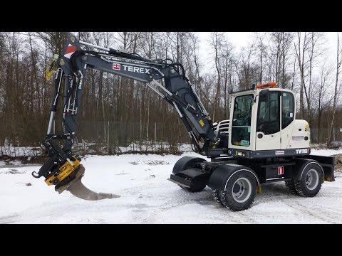 Presentation of the new Terex TW 110 excavator 2016