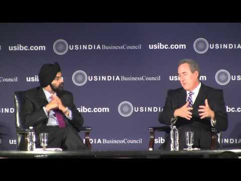 USTR Michael Froman with USIBC Ajay Bagga