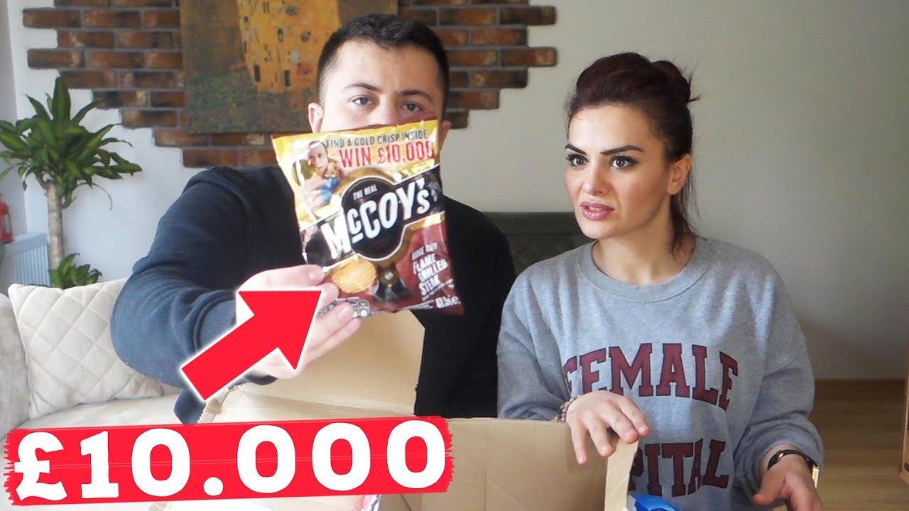 İÇİNDEN 10.000 POUND ÇIKAN CİPS! (İngiliz Abur Cuburları)