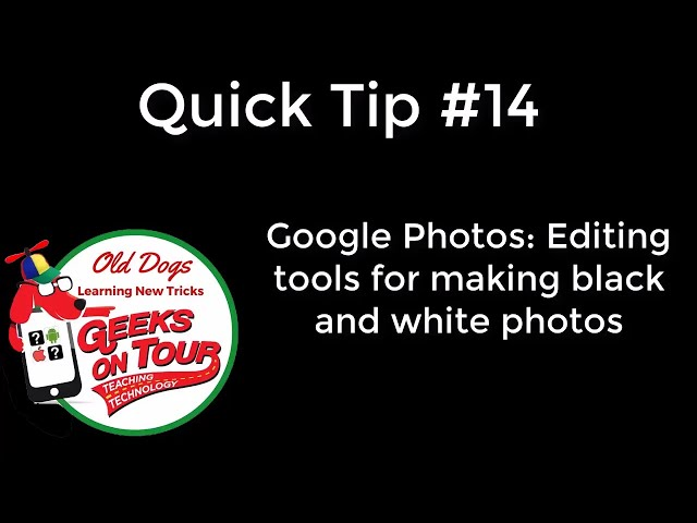 How to use Google Photos to make black and white pictures #491