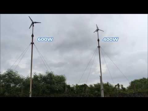 Windmill 400w and 600w wind turbine stress testing facility.