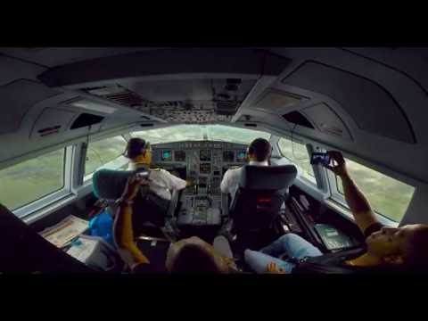 ✈ FULL Surinam Airways A340 Gopro Hero 4 Cockpit PY994 movie