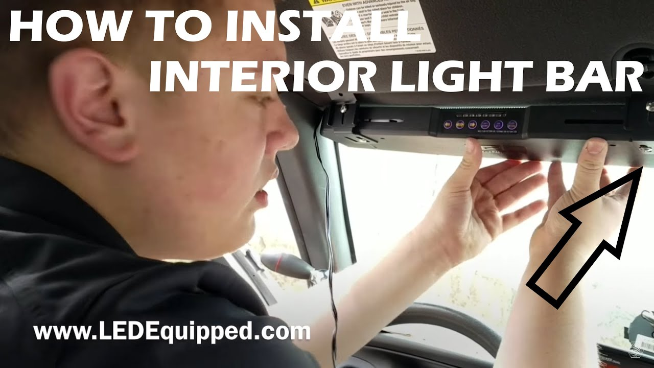 How To Install A Interior Visor Light Youtube