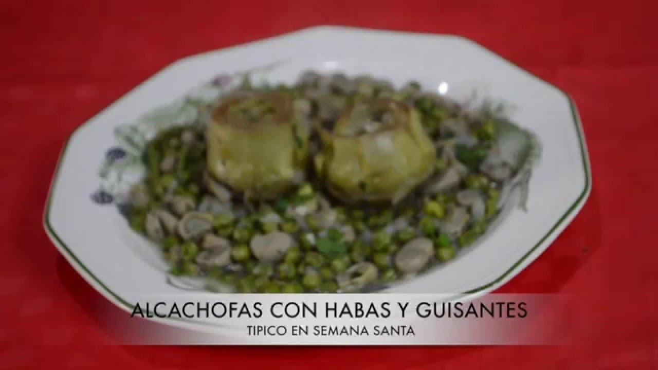Alcachofas con habas y guisantes receta f cil rica y sana for Siembra de habas y guisantes