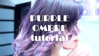 Как сделать фиолетовое омбре ДОМА? //PURPLE LAVANDER OMBRE TUTORIAL