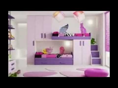 Modelos de habitaciones para ni as youtube for Decoracion de cuartos para 2 ninas
