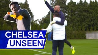 Epic Forfeit For Kepa Arrizabalaga In Goalkeeper's Crossbar Challenge 🤣 | Chelsea Unseen
