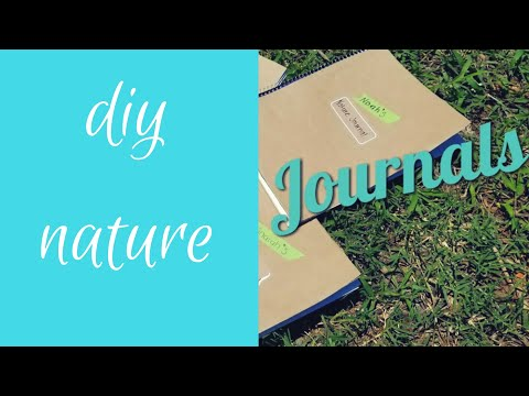 DIY HOW TO MAKE HOMESCHOOL NATURE JOURNAL