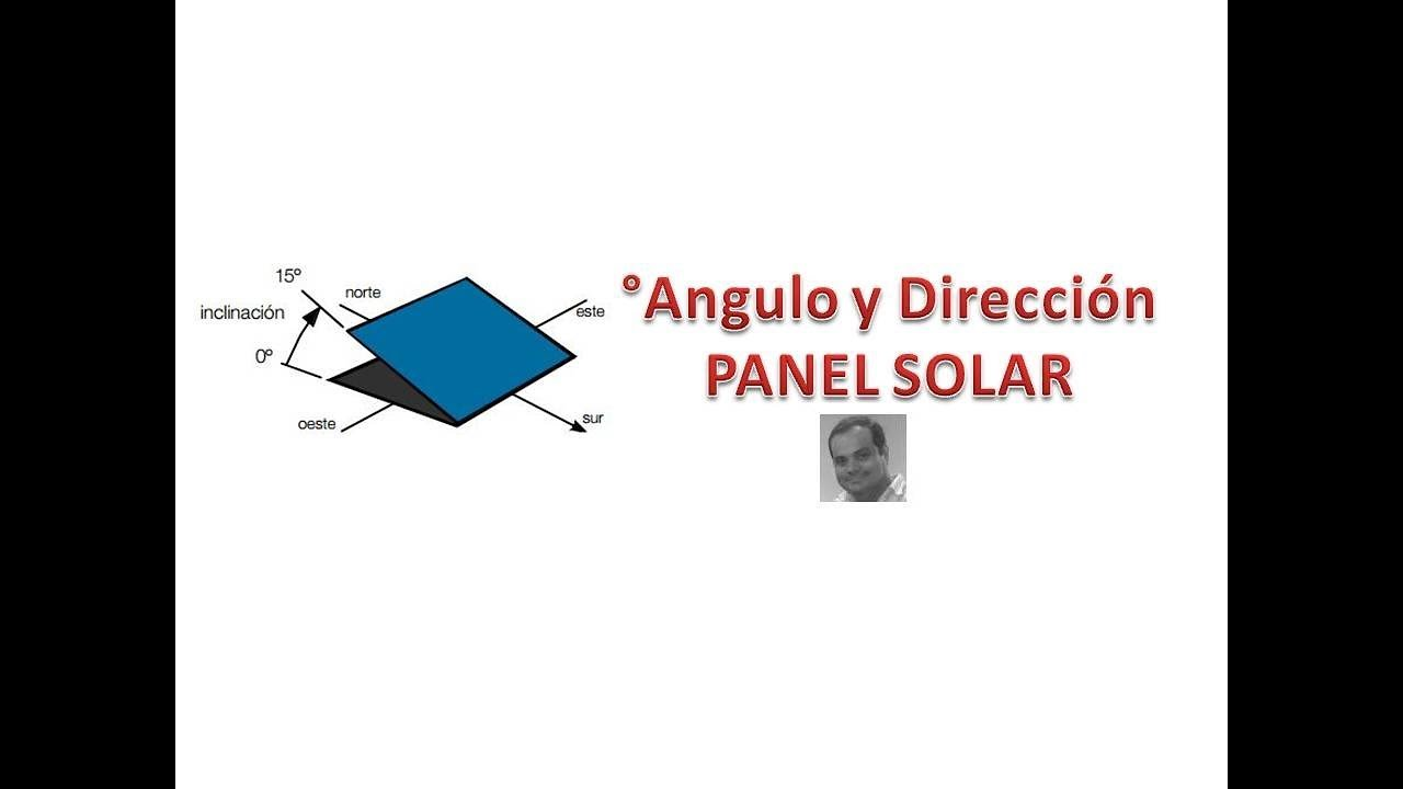 Panel Solar Angulo De Inclinaci 243 N Y Direcci 243 N Youtube
