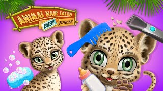 Baby Jungle Animal Hair Salon - Little Animals Need Makeovers | TutoTOONS Cartoons & Games for Kids