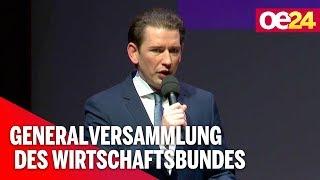 Wirtschaftsbund: Rede von Kanzler Kurz