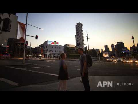 APN's Sydney CBD roadside digital billboard