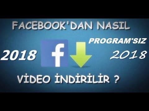 Facebooktan programsız video indirme 2018 by arocan